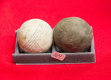 2 Large Stone Marbles