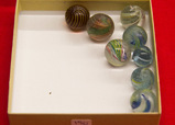 8 Medium Swirl Marbles