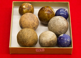 8 Large Stone Marbles