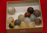 14 Agate Marbles
