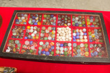 Show Case of Small Marbles