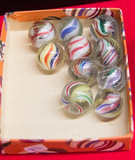 Box of 10 Small Swirl Marbles