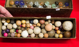 Box of Stone Marbles