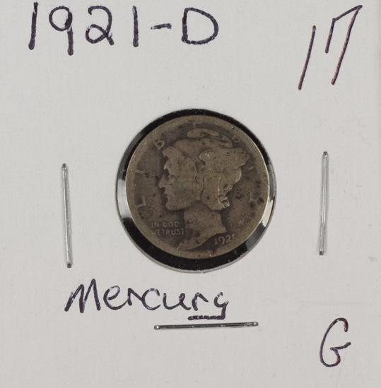 1921 D - Mercury Dime - G