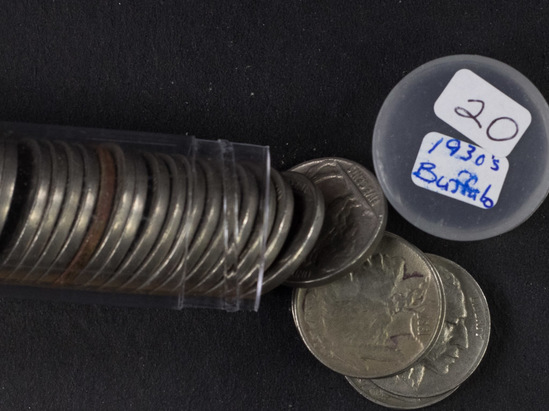 1 - Roll 1930's Buffalo Nickels (40 Coins)