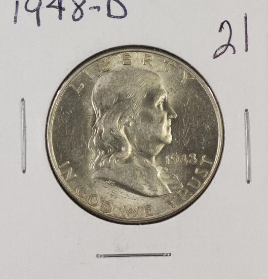 1948 D - Franklin Half Dollar - UNC