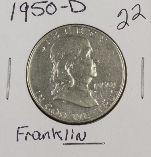 1950 D - Franklin Half Dollar - UNC