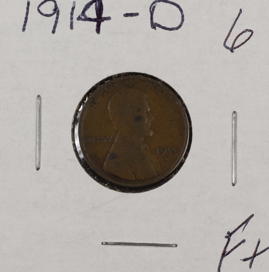 1914 D - Lincoln Cent - F+
