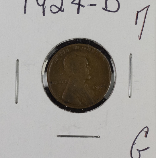 1924 D Lincoln Cent - G