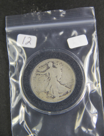 1917 D - OBV Liberty Walking Half Dollar - AG/G
