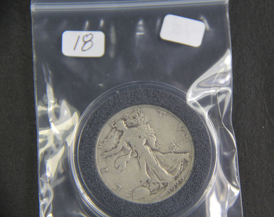 1929 S - Liberty Walking Half Dollar - VG