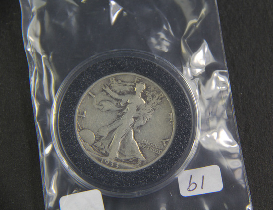 1933 S - Liberty Walking Half Dollar -VG