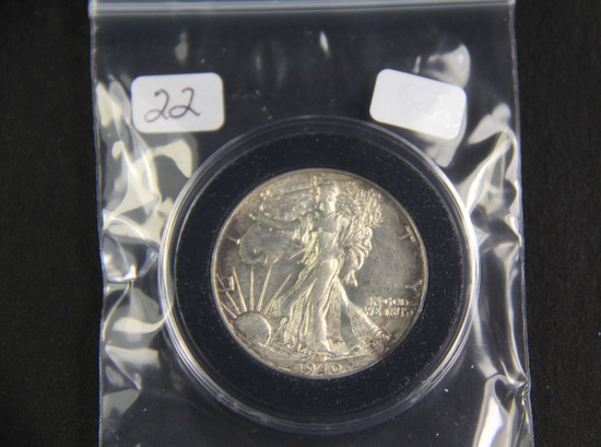 1940  - Liberty Walking Half Dollar -AU+