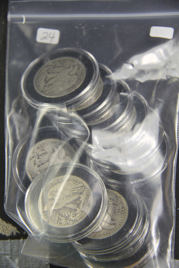 Lot of 11 ($5.50 Face) Liberty Walking Half Dollars