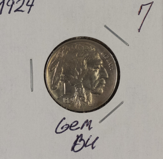 1924 - Buffalo Nickel - BU