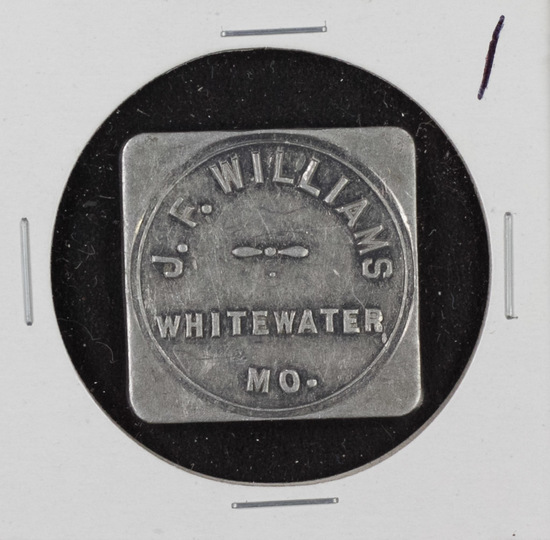 JF WILLIAMS 50 CENT TRADE TOKEN