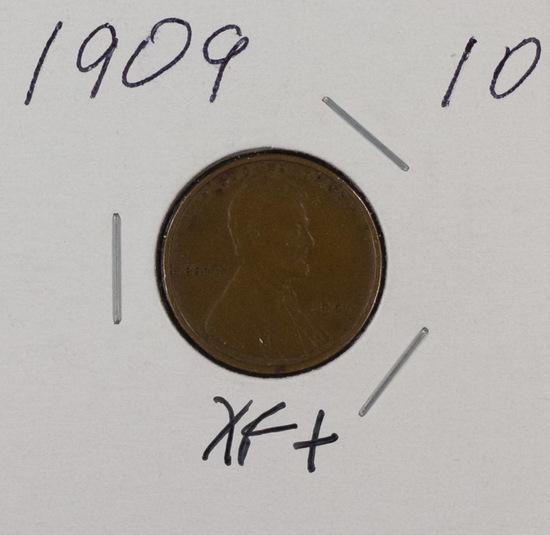 1909  VDB - LINCOLN CENT - XF+