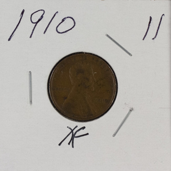 1910 - LINCOLN CENT - XF