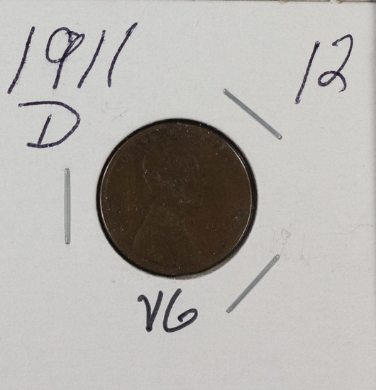 1911 D - LINCOLN CENT - VG