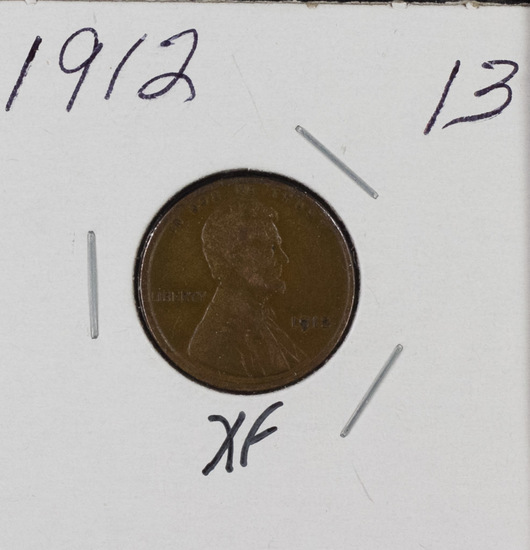1912 - LINCOLN CENT - XF