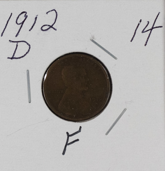 1912 D - LINCOLN CENT - F