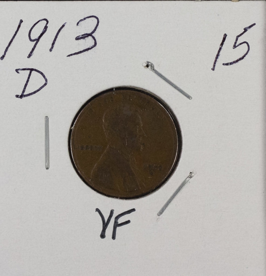 1913 D - LINCOLN CENT - VF