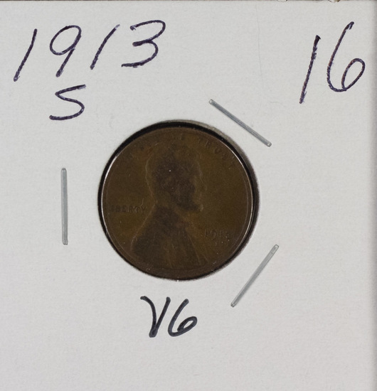 1913 S - LINCOLN CENT - VG