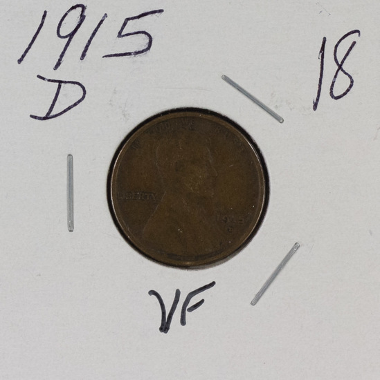 1915 D - LINCOLN CENT - VF
