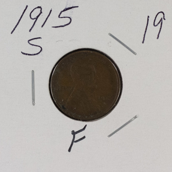 1915 S - LINCOLN CENT - F