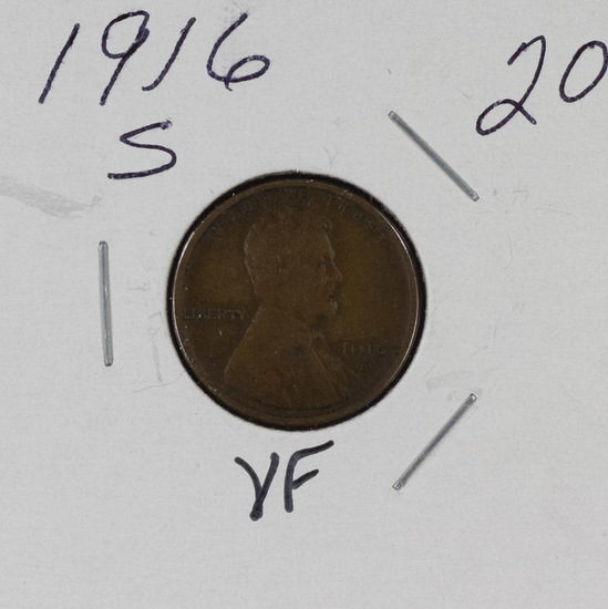 1916 S - LINCOLN CENT - VF