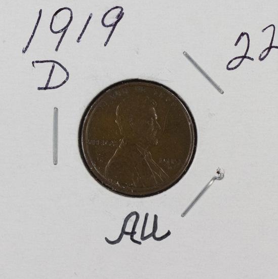 1919 D - LINCOLN CENT - AU