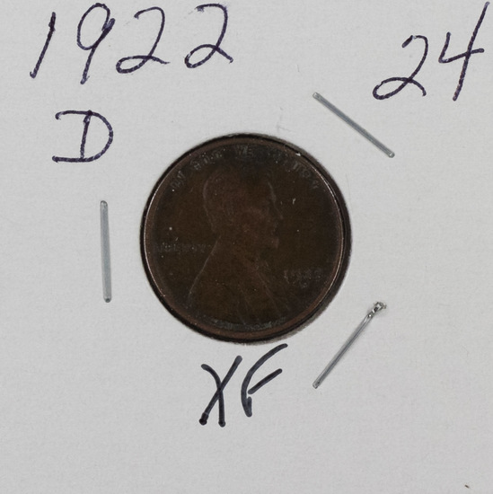 1922 D - LINCOLN CENT - XF