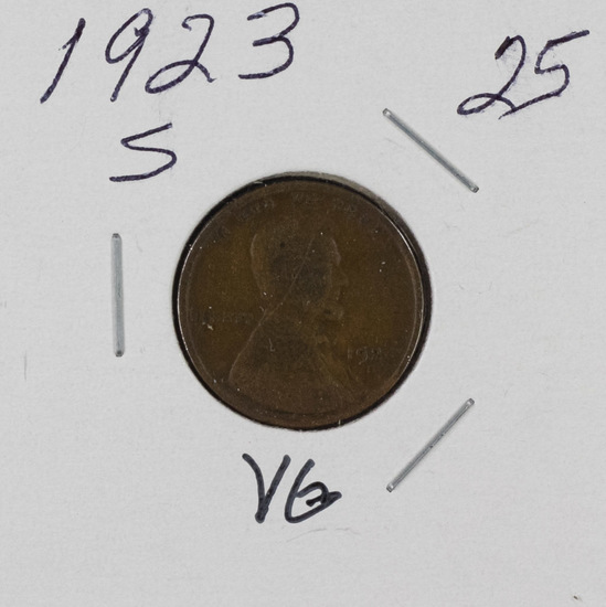 1923 S - LINCOLN CENT - VG