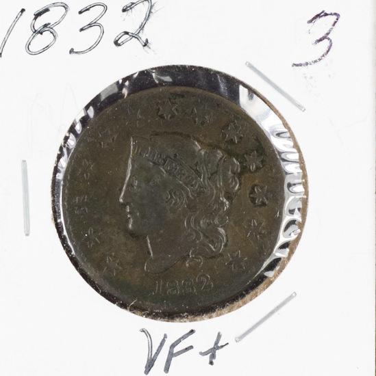 1832 - MATRON HEAD LARGE CENT - VF+