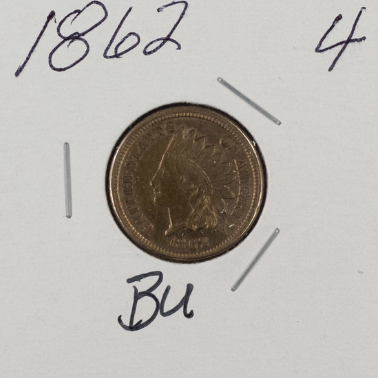 1862 - INDIAN HEAD CENT - BU