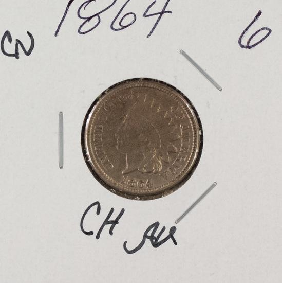 1864 -CN INDIAN HEAD CENT - AU