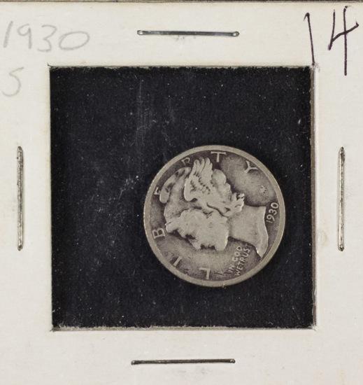 LOT OF 20 - 1930 - 1937 D - MERCURY DIMES