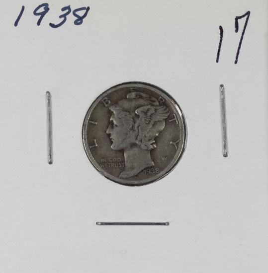 28 - MERCURY DIMES, 2 ROOSEVELT 1955 S - DIMES