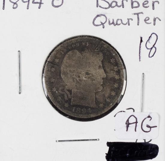 LOT OF 4 -BARBER QUARTERS 1894 O -AG, 1898 - G, 1899 - G, 1899 -G