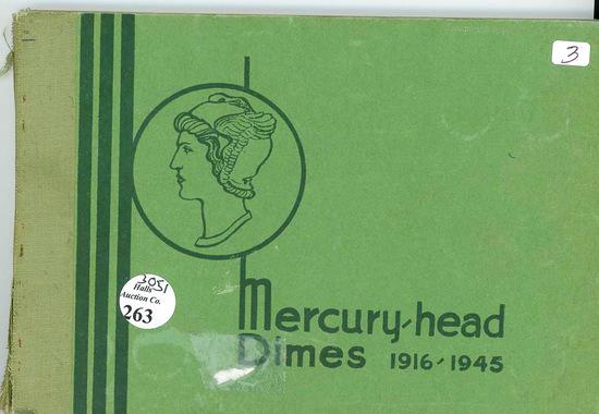 MERCURY DIME SET 1916-1945 NO 1916 D IN WAYTE RAMOND POPULAR ALBUM