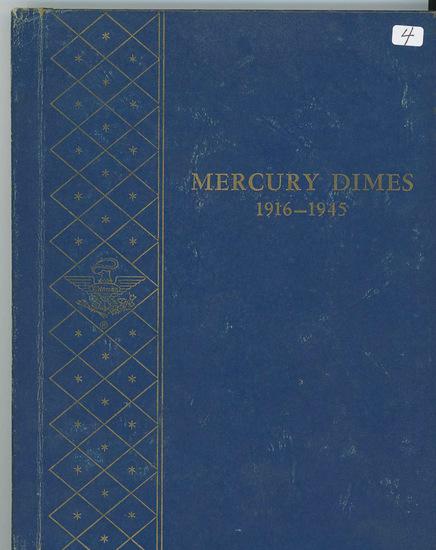 MERCURY DIME SET 1916-1945 NO 1916 D IN WHITMAN BOOKSHELF ALBUM