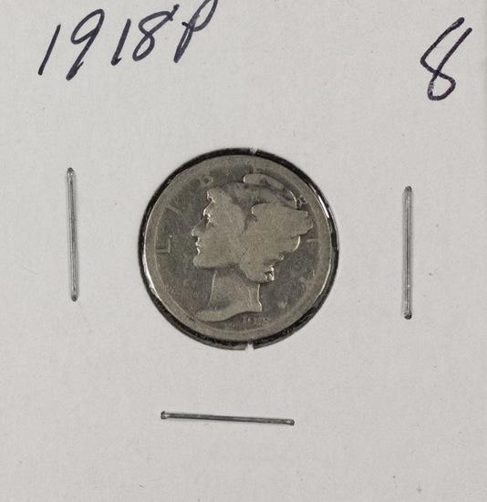 LOT OF 12 1918-1919 S MERCURY DIMES