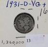 1931 D - MERCURY DIME - VG
