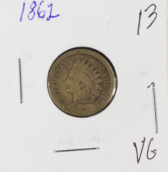 1862 INDIAN HEAD CENT - VG