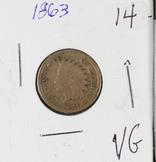 1863 INDIAN HEAD CENT - VG