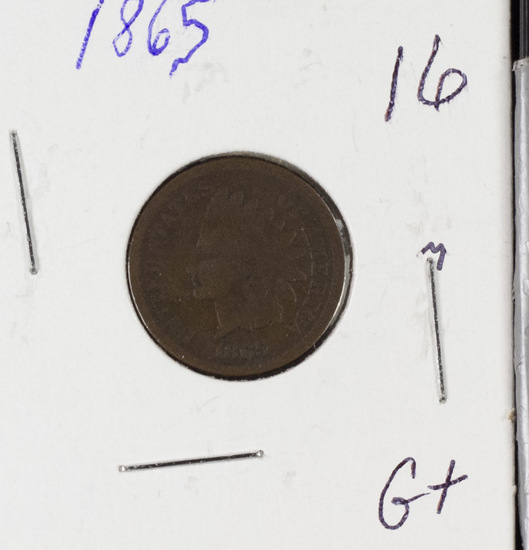 1865 INDIAN HEAD CENT - G+