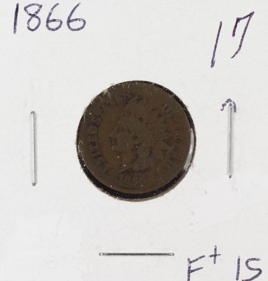 1866 INDIAN HEAD CENT - F
