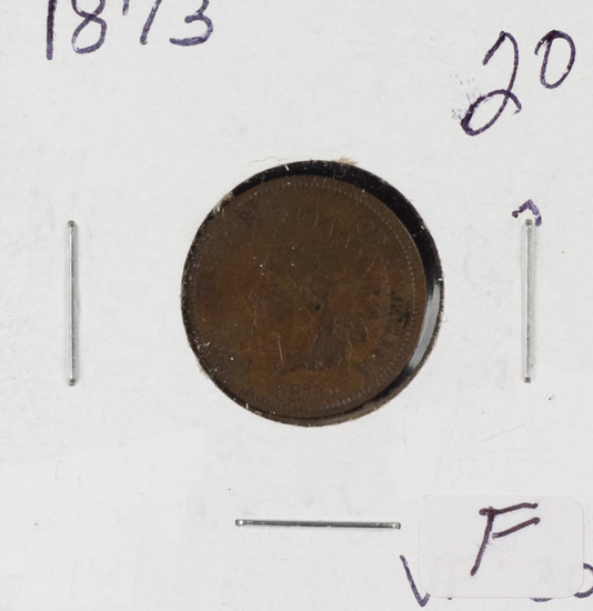 1873 INDIAN HEAD CENT - F