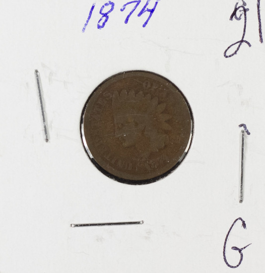 1874 INDIAN HEAD CENT - G