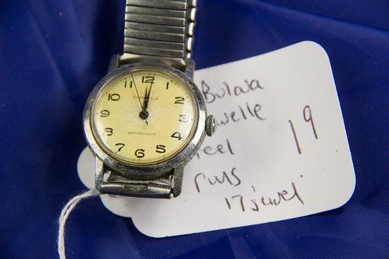 "1973 BULAVA "" CARAVELLE 17 JEWEL WRIST WATCH - RUNS"